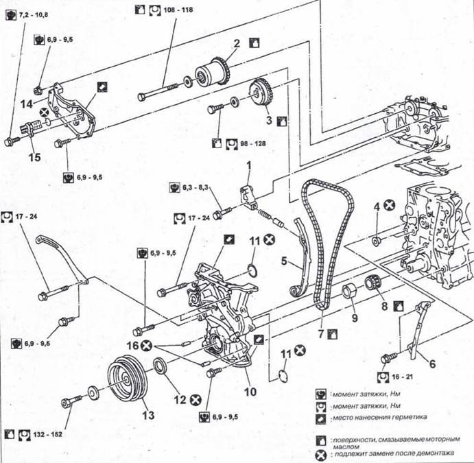 двигателем QC18DE – Снятие