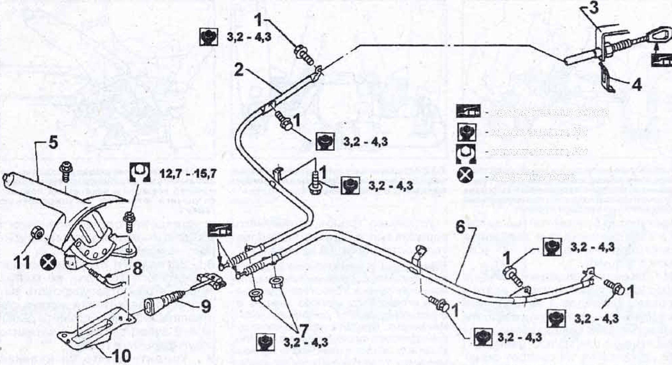 ручной тормоз nissan primera 1991года выпуска